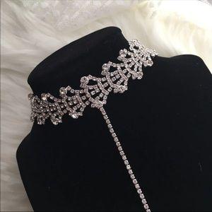 Jewelry - Drop Chain Rhinestone Choker